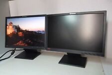 "LOT-2 Lenovo L197 Wide 19"" Dual Monitor Setup Black VGA DVI 1440 x 900 4434-HE1"