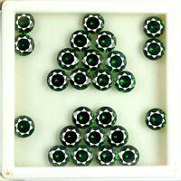 42 Ct/25 Pcs Natural Round AGSL Certified Untreated Green Garnet Gemstone Lot