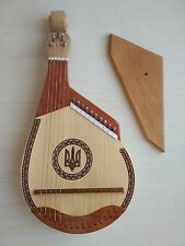 NEW Ukrainian Folk Souvenir BANDURA strings Ukraine Lviv Trembita Trident Tryzub