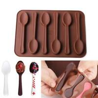 1Pc Spoon Shape Silicone Mold Jelly Chocolate Cake Mold DIY Kitchen Baking Tools