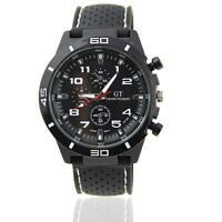 Black Fashion Stainless Steel Luxury Sport Analog Quartz Men's Wrist Watches GA