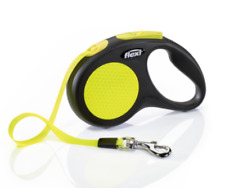 Flexi New Neon Retractable Tape Dog Leash LARGE 16 ft TAPE DOGS MAX 110 LB