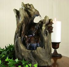 Cave Tabletop Water Fountain LED Lights Indoor Home Office Table Decor Waterfall