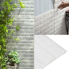 10 tlg 3D Tapete Selbstklebend Steinoptik  Wandpaneele Ziegelstein Wandaufkleber