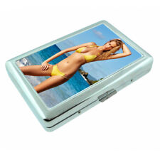 Belize Pin Up Girls D1 Silver Metal Cigarette Case RFID Protection Wallet