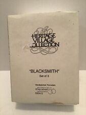 Department 56 Heritage Village Collection Blacksmith Set Of 3 #5934-0
