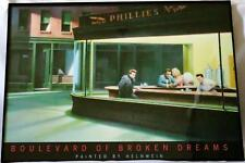 BOULEVARD OF BROKEN DREASMS PAINTED BY HELNWEIN FRAMED LITHOGRAPH