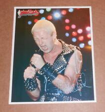 Judas Priest Vintage 1984 Color Photo 8x10 Rare Rob Halford