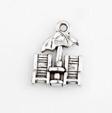 40 Beach Chairs Tibetan Silver Charms Pendants Jewelry Making Findings 5E3C9F