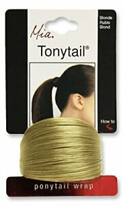 MIA Tonytail Ponytail Wrap Synthetic Hair Elastic Rubber Band U Pick Color NEW