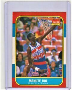 MANUTE BOL ROOKIE CARD 1986-87 FLEER Basketball WASHINGTON BULLETS #12 NICE!