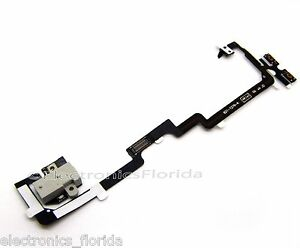 Headphone Audio Jack Power Volume Flex Cable for Apple iPhone 4 CDMA White b74