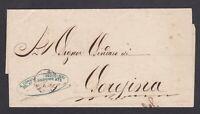 ITALIA REGNO coperta 1863 xSORESINA da COMANDO 5°reggim. BERSAGLIERI +AMBULANTE