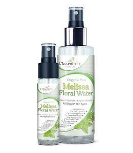 Organic 100% Melissa Floral Water DUO 30 &150ml Rejuvenate Tone Awaken Dull Skin