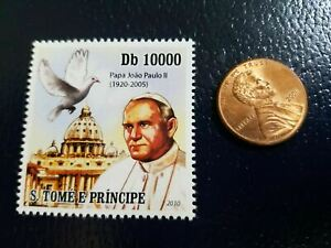 Pope John Paul II Sovereign State Vatican City S. Tome E Principe 2010 Stamp