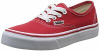 Vans Kids Authentic Skate Shoe RED NEW IN BOX Athletic Sneakers Size 11
