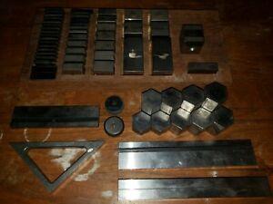 Lot of 63 Pratt & Whitney, Lufkin, Anton, P&S Collection Machinist Gage Blocks