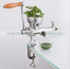 Brand New 304 Stainless Steel Wheat Grass Leafy Vegetables Juicer Hand Crank