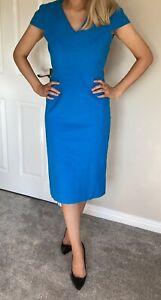 Roland Mouret Stunning Cobalt Blue Dress in Pencil Style Size 12