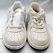 be1e92c1485a7 NIKE 624046-117 Baby Force 1 White upper Black sole Sneakers Size 8.5c