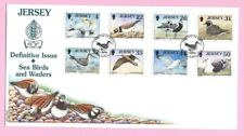 JERSEY Post 1998 FDC - DEFINITIVES - SEA BIRDS & WADERS III - Special Handstamp