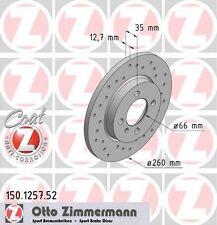 BMW E30 3 SERIES PAIR OF ZIMMERMANN FRONT SPORT BRAKE DISCS (34111154747)