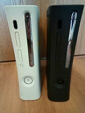 Lot of 2 as is Xbox 360 Consoles for parts or repair Black and White