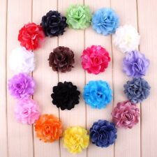 "120pcs 2.1"" Artificial Chic Shaped Rose Fabric Hair Flower For Headbands"
