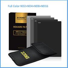 ZOMEI 4x6in. 150*100mm Full Grey Neutral Density ND 2 4 8 16 Filter Kit Cokin Z