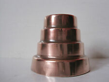 ANTIQUE VICTORIAN SMALL STEPPED COPPER JELLY / ENTREE' MOULD