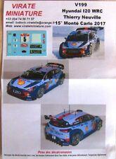 V188 Hyundai i20 WRC 6° Rallye Monte Carlo 2016 Dani sordo Calcomanías Virate