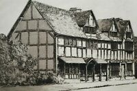 Antique Shakespeare's House Etching Signed C Dickens Circa 1890