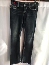 Womens Maurices Premium Dark Jeans Stitched Embellished Jeans Size 9/10 Long