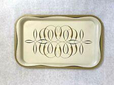 "Vintage Metal Tray Tin Barware Serving Retro Mid Century Mcm 14.25"" x 8.75"""