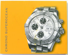 BREITLING CHRONO SUPEROCEAN INSTRUCTION MANUAL BOOK GUIDE BOOKLET I187