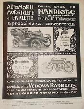 TORINO_AUTOMOBILI_MOTOCICLETTE_BICICLETTE_BARBERIS_HANRIOT_MOTTE_ARREDI LIBERTY