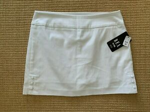 D.F.A. New York White Skort With 1/4 Button Sides Size 8P