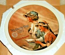 Mother's Day Norman Rockwell Vintage Collector Plate 'Faith' 1977 w/Coa - New