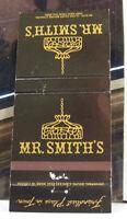 Rare Vintage Matchbook Cover T2 Washington DC Vienna Virginia Mr Smith's Town