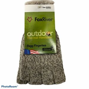Fox River Ragg Heavy Wool 85% & 15% Nylon Weight Finger-less Glove Size Small