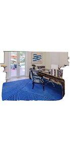 Area rug 8x10 Bold Blue