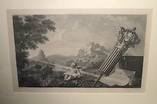 HOGARTH, William/WOOLETT, William-Frontispiece to Taylor's Perspective-engraving