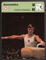 VLADIMIR MARKELOV Russia Gymnastics Olympics 1979 SPORTSCASTER CARD 101-23