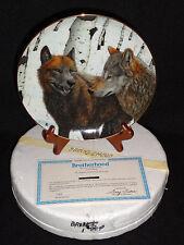 Wolf Plate Brotherhood By The Danbury Mint