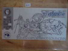France 1984 Ausipex Olympics Card