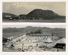 PANAMA,  CANAL ZONE, US AIR FORCE & ORIGINAL circa 1929 MONTAGE PHOTO