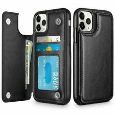 Leather Cards Wallet Back Magnetic Flip Cover Thin Slim Case Fits iPhone 11P