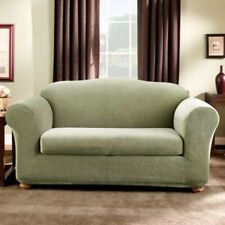 SureFit Stretch Stripe 2-Piece - Sofa Slipcover - Sage