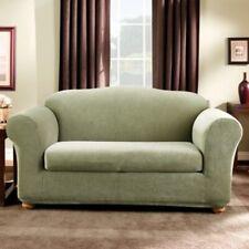 SureFit Stretch Stripe 2-Piece - Sofa Slipcover - Sage