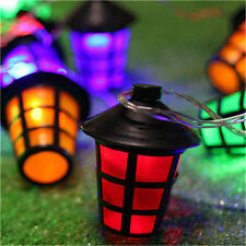 20LED Solar Garden Coloured Lantern Fairy Lights String Garden Xmas Party Decor